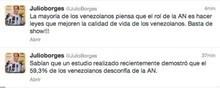 """Julio Borges: """"El 59,3% de los venezolanos desconfía de..."""