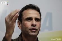 Capriles: Los que atacan a la oposición son los que oxigenan...
