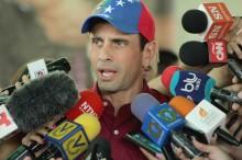 "Capriles aseguró que Zapatero está ""descalificado""..."